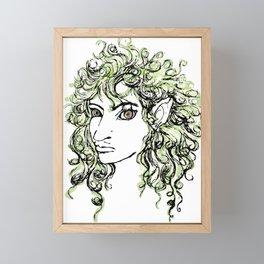 Female elf profile 1 Framed Mini Art Print