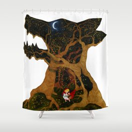 I Am The Night Shower Curtain