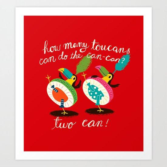 toucan-can Art Print
