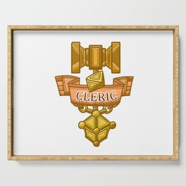 Cleric Hammer, d8 and Lantern Coat of Arms Serving Tray