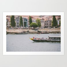 A ride on the river Art Print