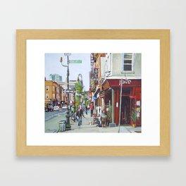Carroll Gardens Brooklyn Framed Art Print