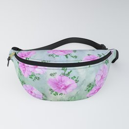Pink Petunas over Blue Sky Fanny Pack
