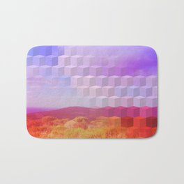 Ultra Surreal Countryside Violet Rainbow Bath Mat