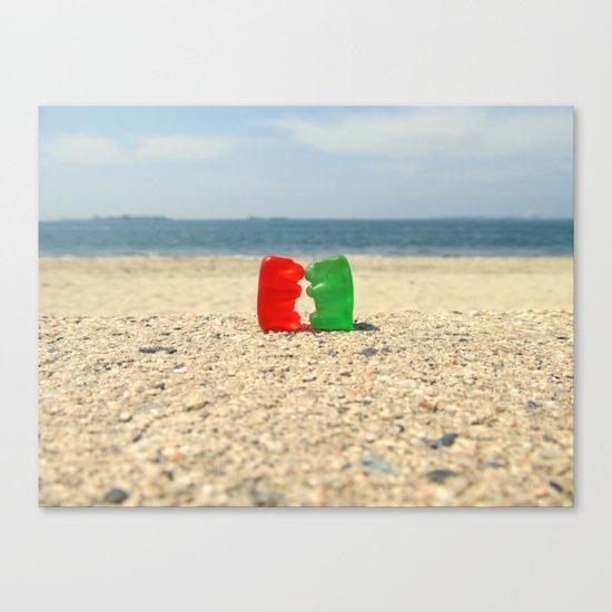 Gummy Bear Beach Kiss Canvas Print