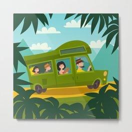 Summer trip vector illustration. Metal Print
