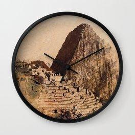 Machu Picchu Peru Wall Clock