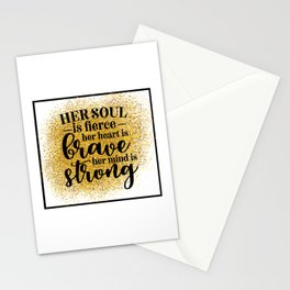 Her Soul Is Fierce Stationery Cards