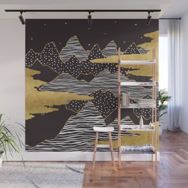 Gold Mountain Peaks Wall Mural