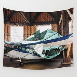 hangar airplane Wall Tapestry