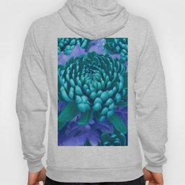 Blue chrysanthemum Hoody