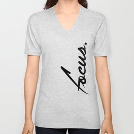 Focus - version 1 - black Unisex V-Neck