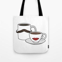 The Caffeinated Couple Tote Bag