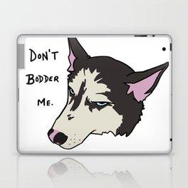 Annoyed Husky Laptop & iPad Skin