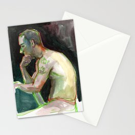 JOEY, Semi-Nude Male by Frank-Joseph Stationery Cards