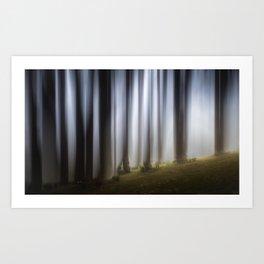 Spooky woodland Art Print