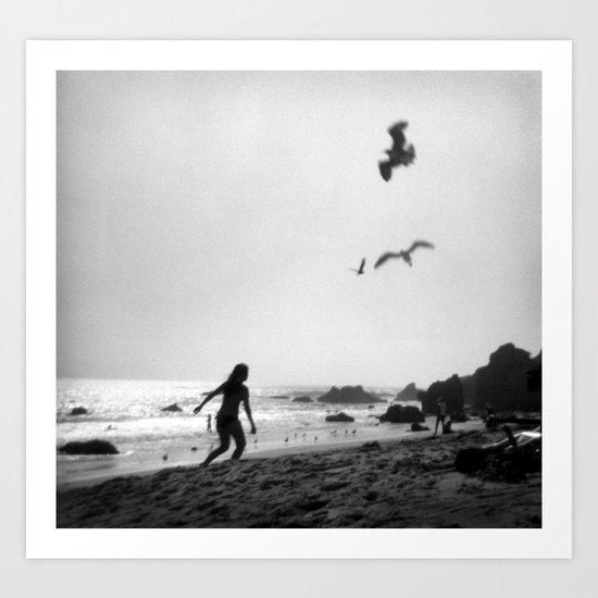 at the ocean Art Print