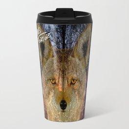Long Night Coyote Travel Mug