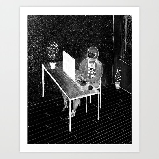 Virtual Space Travel Art Print