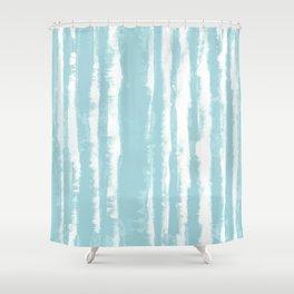 Shibori Stripe Seafoam Shower Curtain