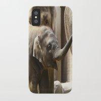 baby elephant iPhone & iPod Cases featuring Baby Elephant by Päivi Vikström