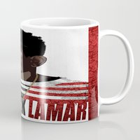 kendrick lamar Mugs featuring Kendrick  by Tecnificent