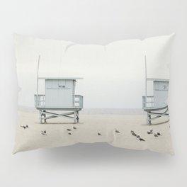 Lifeguard Towers with Birds Pillow Sham