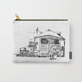 Blacktowhite Sketch Carry-All Pouch