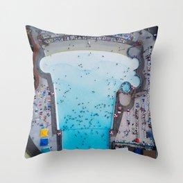 Wild Waves Wave Pool Throw Pillow