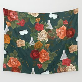 Chemistry Floral Wall Tapestry