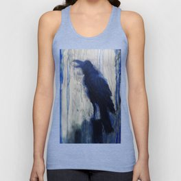 Contemporary Blue Raven Weather Abstract Painting  Unisex Tank Top