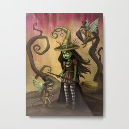 Wizard of Oz Art - Wicked Witch of the West Metal Print