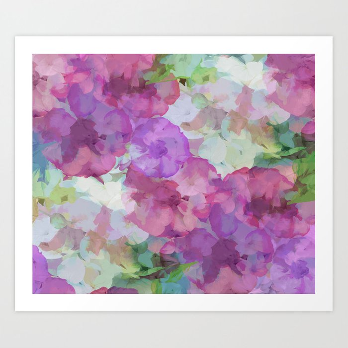 Sweet Peas Floral Abstract Art Print
