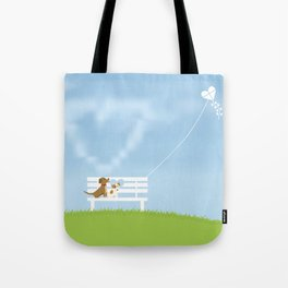 Dogs In Love Tote Bag
