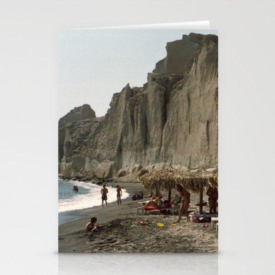 Eros Beach, Santorini Stationery Cards