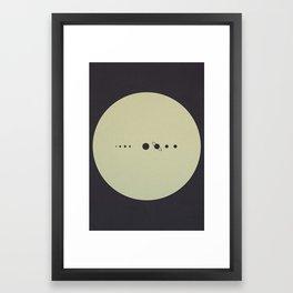 (You are here) Solar System v2 Framed Art Print