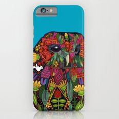 tawny owl turquoise iPhone 6s Slim Case