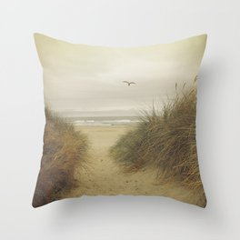 Rockaway Beach Throw Pillow