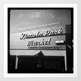 Lincoln Park Market Art Print