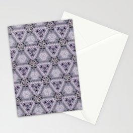 Pale Purple Pyramids Stationery Cards