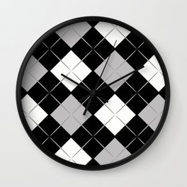Checkered background Wall Clock