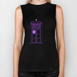 Tardis With The Fourth Doctor Biker Tank