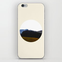 Edge Of The Forest Landscape Round Photo iPhone Skin
