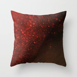 Red Spakling Sand Throw Pillow