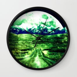 Highway to Eternity  Green Blue Wall Clock
