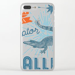 Alligator Alley Swamp Sanctuary Florida Clear iPhone Case