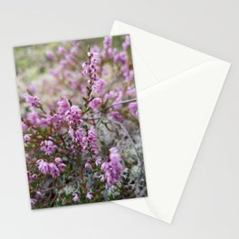 Heather blooming Stationery Cards