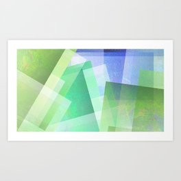 Whacky Style - Digital Geometric Texture Art Print