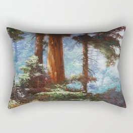 The Forrest Through the Trees Rectangular Pillow