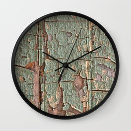 Cracked Wood Paint Wall Clock